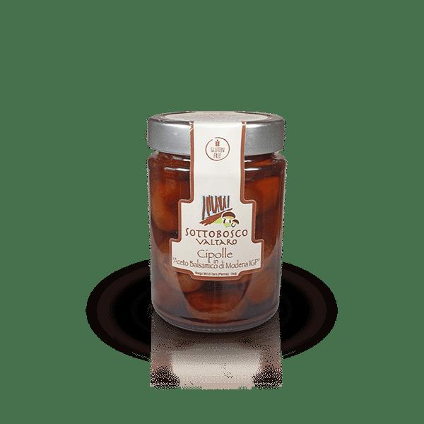 Cipolle in Aceto Balsamico di Modena IGP della Azienda Sottobosco Valtaro, in vendita sullo shop Parma e Gusto by Prosciuttificio San Nicola
