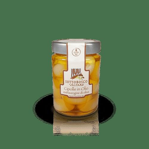 Cipolle in Olio Extravergine di oliva della Azienda Sottobosco Valtaro, in vendita sullo shop Parma e Gusto by Prosciuttificio San Nicola