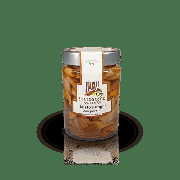 Misto Funghi con Porcini della Azienda Sottobosco Valtaro, in vendita sullo shop Parma e Gusto by Prosciuttificio San Nicola