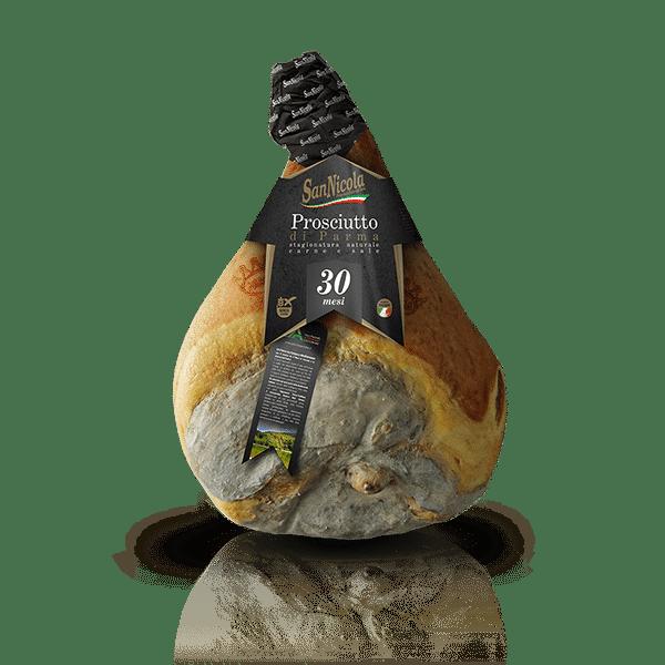 Prosciutto di Parma San Nicola 30 Mesi Intero con osso in vendita sullo shop Parma e Gusto by Prosciuttificio San Nicola