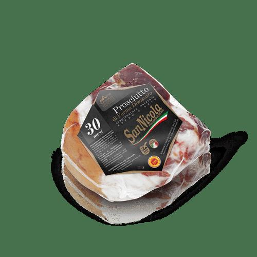 Prosciutto di Parma San Nicola 30 Mesi Disossato in Trancio Sottovuoto in vendita sullo shop Parma e Gusto by Prosciuttificio San Nicola