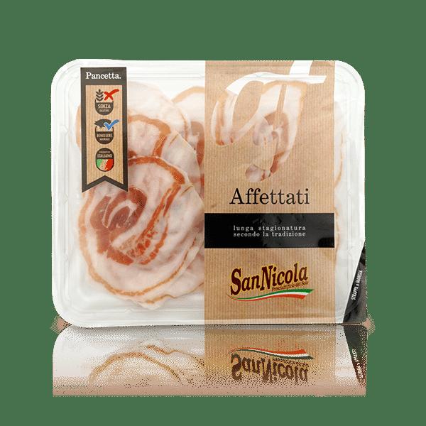 Pancetta affettato in vaschetta, in vendita sullo shop Parma e Gusto by Prosciuttificio San Nicola
