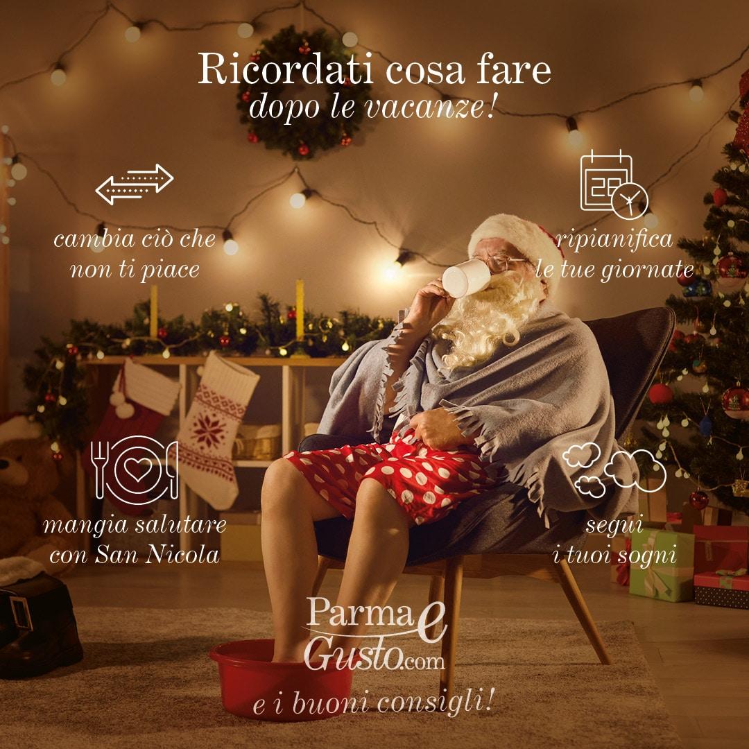 POST PARMAeGUSTO i Buoni Consigli, ricordati cosa fare dopo le vacanze di Natale.1